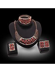 GYJUN Bijoux Colliers décoratifs / Boucles d'oreille / Anneaux / Bracelet 4 pièces Plaqué or Imitation de diamant Mariage / SoiréeCristal /