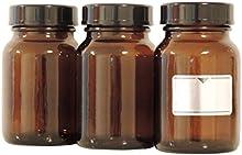 Viva-Haushaltswaren-6copas de 5frascos 250ml./5botellas farmacia vasos en marrón cristal, incluye etiquetas