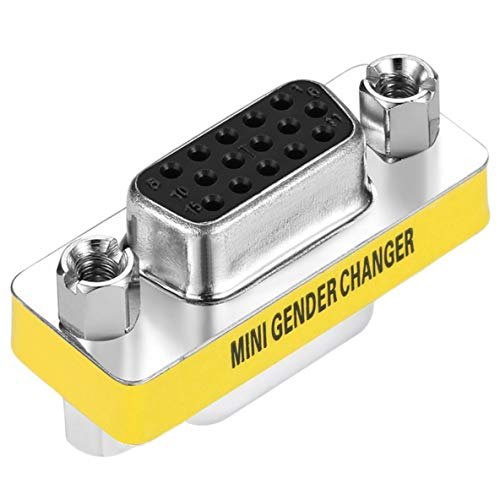 Noradtjcca Professionelles Design Buchse zu Buchse VGA HD15 Pin Gender Changer Converter Adapter -