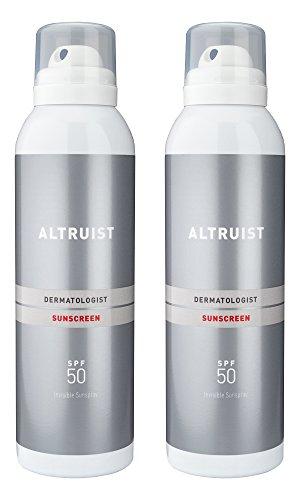 ALTRUIST Dermatologist Invisible Sunspray with SPF50, 200 ml (2 x 200ml)