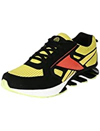 BACCA BUCCI MEN YELLOW LYCRA AND MESH SPORT SHOES