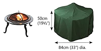 Under Cover Essentials Large Round Fire Pit Cover - Height 50cm X Width 84cm by Under Cover