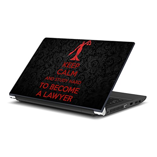 ezyPRNT Laptop Skin / laptop decal / laptop Sticker (15 to 15.6 Inch) for Apple, Lenovo, Dell, Vaio, HP, Lenovo, Acer, Asus, Toshiba Laptops with Keep Calm and Study Hard to become a Lawyer