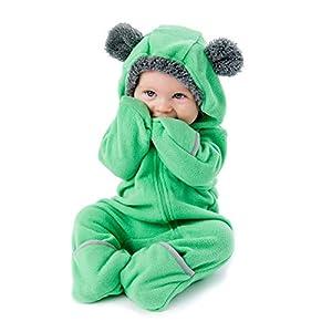 Funzies-Forro-Polar-Chaqueta-Ligera-Abrigo-De-Prenda-Exterior-De-Invierno-De-Pijama-para-Bebs-Oso-Verde-3-6-Meses