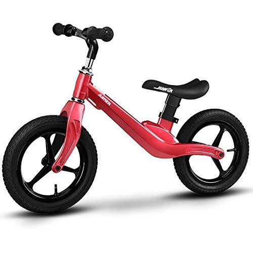 GHL Kind Auto ausbalancieren Kein Pedal Gleitender Schritt Gleiten Auto Geeignet 1-3 Jahre alt Aufblasbar Reifen 12 Zoll,Red