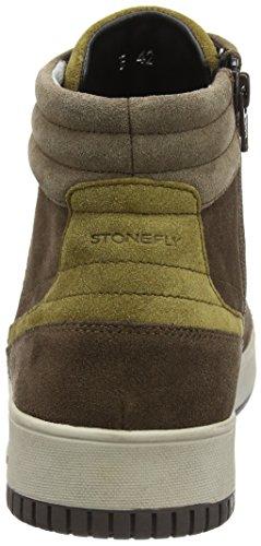 Stonefly Dover 2, Baskets Montantes Pour Homme Marron (chêne Marron / Amandes 38)