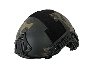 Emerson Airsoft Adjustable MH Fast Helmet Multicam Black Vision Mount