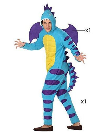 Atosa - Disfraz Dragón, Color Azul, M-L (26895)