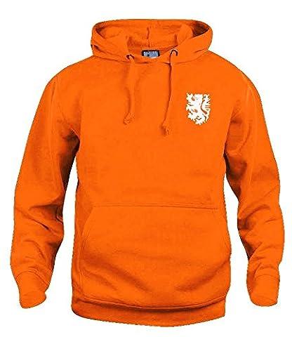 Retro Holland 1970s Football Hoodie New Sizes S-XXXL White Logo (Large)