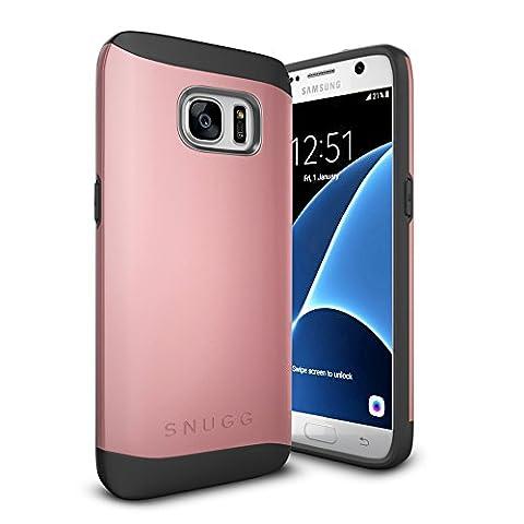 Coque Galaxy S7, Snugg Samsung Galaxy S7 Double Couche Case Housse Silicone [Bouclier Légère] Etui de Protection – Or Rose, Infinity Series
