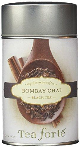 Tea forté Bombay Chai - loser Tee Schwarztee in Geschenkdose, 1er Pack (1 x 130 g)