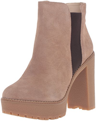 Nine West Women's idelle Boot Natural/Dark Brown