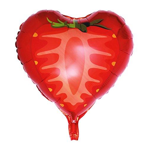 (BESTOYARD Früchte Ballons Aluminiumfolie Mylar Heliumballon für Geburtstagsfeier Baby Shower Party Favors Supplies 46 cm (Erdbeere))