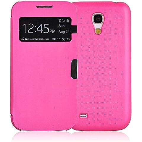 JAMMYLIZARD | Funda Smart View Para Samsung Galaxy S4 MINI Flip Cover Case Con Cierre Magnético, ROSA