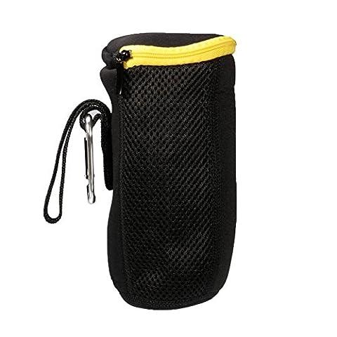 JBL/charage Lautsprecher Zipptasche - SODIAL(R)Tragbar Lautsprecher Tasche Schutztasche Case Huelle Cover Zipptasche reissverschluss Beutel fuer JBL Pulse/Charge/Charge 2 Bluetooth Lautsprecher Speaker, Schwarz+Gelb