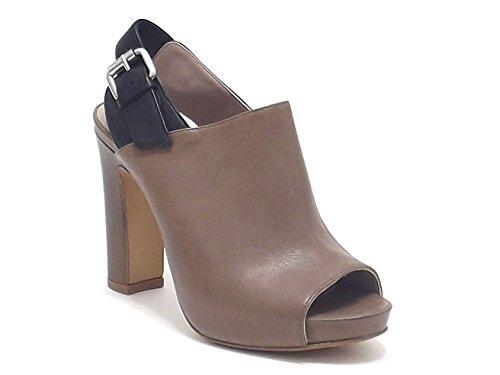 Janet & Janet scarpe donna, modello 35400, sandalo in pelle, colore cuoio nero