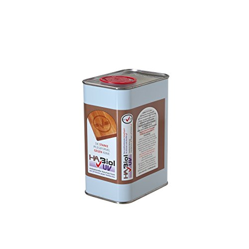 HABiol UV 1l Holzöl Holzpflegeöl Leinölfirnis Terrassenöl Gartenmöbelöl Teaköl für Innen & Außen