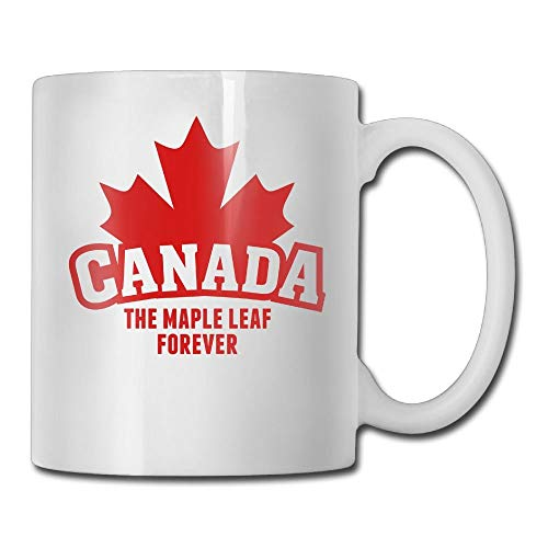 Daawqee Becher Coffee Mug New Canada The Maple Leaf Forever Mugs Funny Ceramic Coffee Tea Cups, Double-Side Printing, 11oz -
