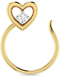 PC Jeweller The Brone 22KT Yellow Gold Nosepin