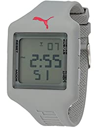 Puma Time Damen-Armbanduhr Slide L Grey Digital Quarz Plastik PU910791008