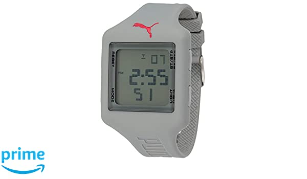 Puma Time Damen Armbanduhr Slide L Grey Digital Quarz