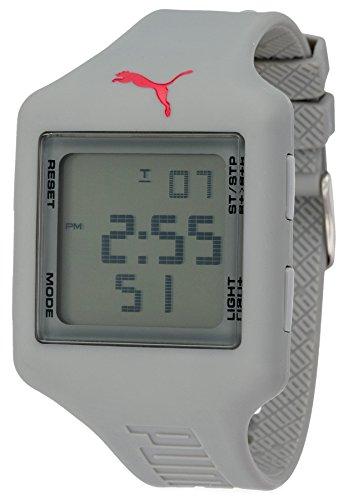 Puma - PU910791008 - Slide L - Montre Femme - Quartz Digital - Cadran Gris - Bracelet Plastique Gris