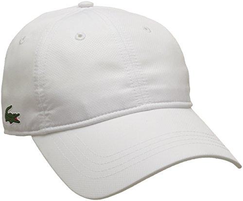 Lacoste Sport Herren Rk2447 Baseball Cap, Weiß (Blanc), One Size (Herstellergröße: TU)