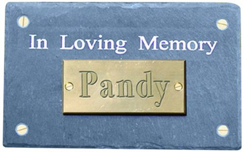 Haustier in Loving Memory Gedenktafel aus natürlichem Schiefer rechteckig Wand montiert