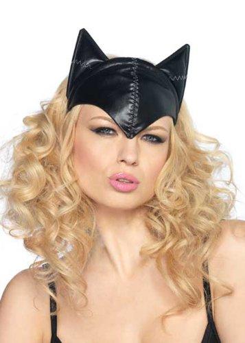 Catwoman Ohren (Leg Avenue Kostümzubehör für Erwachsene / Damen, Design Catwoman-Kopfbedeckung Schwarz mit)
