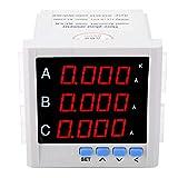 Voltmetro amperometrico CA, amperometro trifase digitale programmabile LED 1A / 5A / 10A (bianco) Apparecchiature elettriche Voltmetro amperometro digitale(bianca)