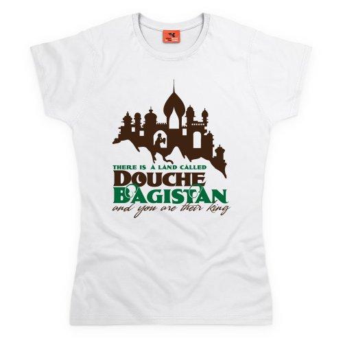 Douchebagistan T-Shirt, Damen Wei