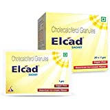 ELCAD Vitamin D3 Sachet |Immunity Booster| For Strong Bones & Muscles| Stevia based Sugar Free | Pack of 20 sachet| Sugar Fre