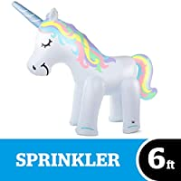 Bigmouth Inc. Ginormous Inflatable Magical Unicorn Summer Yard Sprinkler, Stands Over 6 Feet Tall, Perfect for Summer Fun