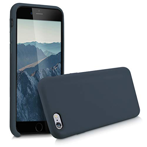 e 6 / 6S Hülle - Handyhülle für Apple iPhone 6 / 6S - Handy Case in Dunkelblau matt ()