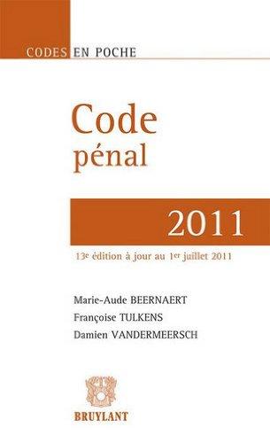 Code pénal 2011 par Marie-Aude Beernaert