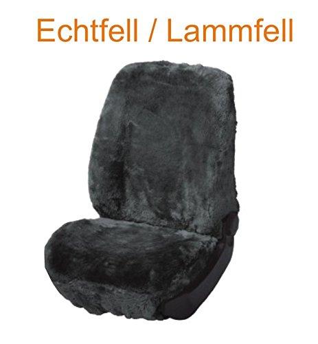 Preisvergleich Produktbild Universal Schonbezug Sitzbezug Fahrer Echtfell Lammfell anthrazit, Details siehe Artikelbeschreibung
