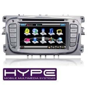 HYPE HSB8903GPS Autoradio 2 DIN GPS 16cm DVD / DivX USB SD pour FORD MONDEO FOCUS 08 S-MAX