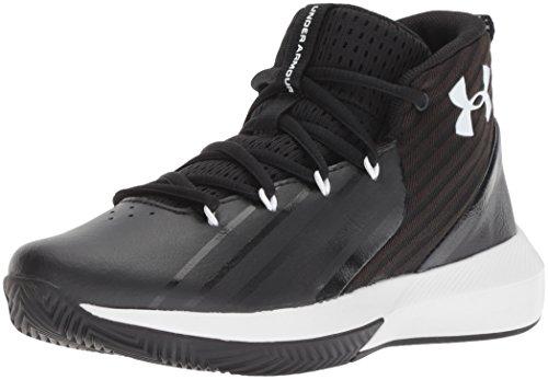 Under Armour Jungen UA BGS Lockdown 3 Basketballschuhe, Schwarz (Black/White), 38 EU