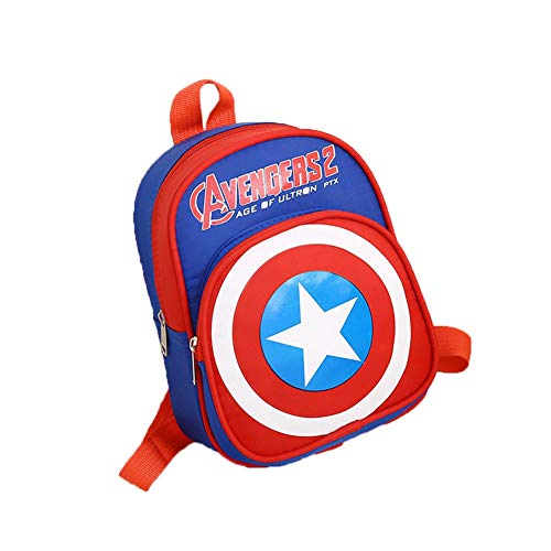 Monifuon Marvel Legends Endgame Kids Backpack, Nylon Spiderman Iron Man Captain America Batman Superman Rucksack for Boys Girl (Marvels Avengers Party Supplies)