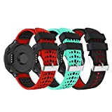 Yayuu Compatible con Correa de Reloj Garmin Forerunner 235 Correa, Banda de Reemplazo Silicona Suave Sports Pulsera para Forerunner 235/220/230/620/630/735XT Smart Watch