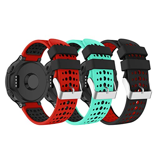 YaYuu Garmin Forerunner 235 Correa de Reloj, Banda de Reemplazo Silicona Suave Sports Pulsera para Forerunner 235/220/230/620/630/735XT Smart Watch