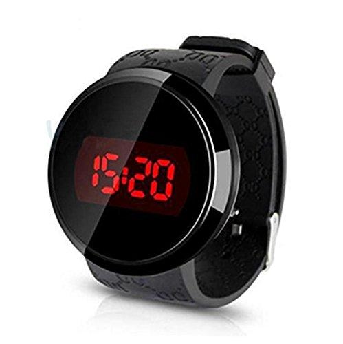 Reloj, Susenstone moda hombres LED táctil pantalla día fecha silicona pulsera Reloj Digital LED reloj