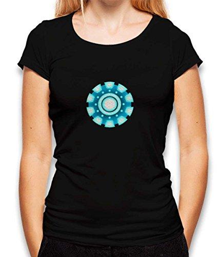 shirtminister Arc Reactor Ironman Damen T-Shirt Schwarz M