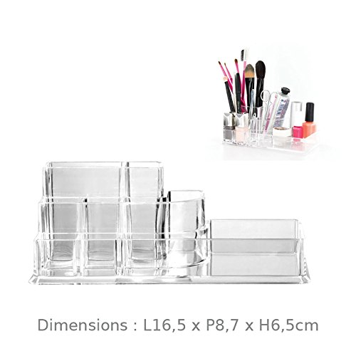 Organizzatore di maquillages e cosmetici deposito Pennelli Rossetto Smalto Mascaras in acrilico trasparente