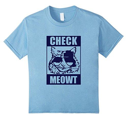 "CAT T-SHIRT Funny Cat Tee ""CHECK MEOWT"""