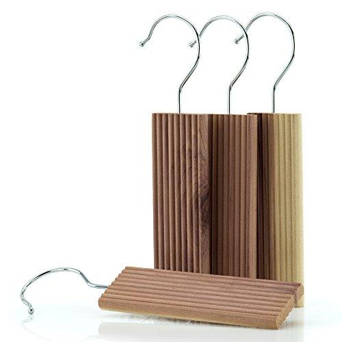 Hangerworld - Natürlicher Mottenschutz Zedernholz Blöcke zum Aufhängen,12 Stück - Natur - 13cm (Kleiderbügel Im Badezimmer)