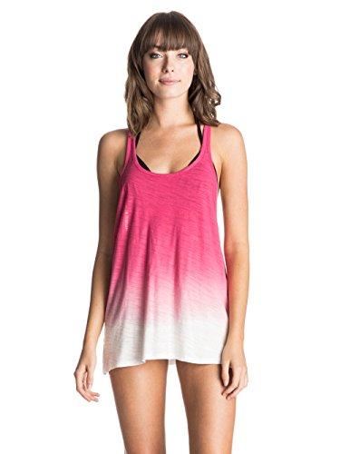 Roxy Damen Kleider Easy Sporty Lon J Cvup, Pop Pink, M, ERJX603009-MJP0 (Shirt Pink Roxy)