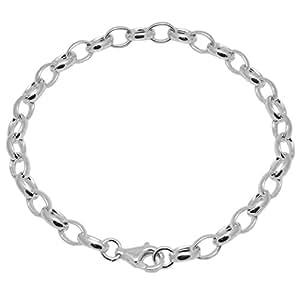 Melina Damen-Bettelarmband Oval 19,5 cm MASSIV 925 Sterling Silber 1900062