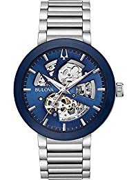 Bulova Mens Analogue Automatic Watch with Stainless Steel Strap 96A204