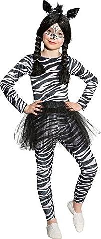 Kinder Kostüm Zebra Mädchen Zebrakostüm Karneval Fasching Gr.140